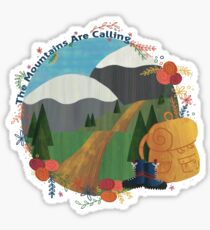 The Mountains Are Calling - Hike Sticker