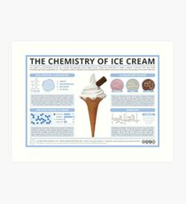 The Chemistry of Ice Cream Art Print