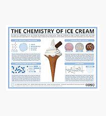 The Chemistry of Ice Cream Photographic Print
