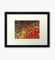 END OF THE RAINBOW - Bold Multicolor Abstract BC Colorful Nature Inspired Sunrise Sunset Ocean Beach Theme Framed Print