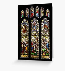 STAINED GLASS WINDOWS . Greeting Card