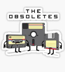 The Obsoletes (Retro Floppy Disk Cassette Tape) Sticker