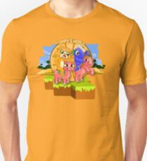 Mister Stampy Cat and Ballistic Squid riding piggies Unisex T-Shirt