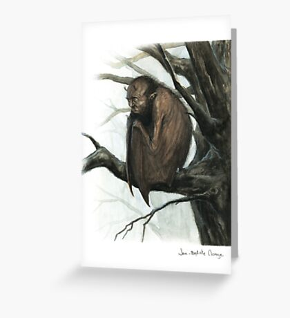 Bat Man Greeting Card