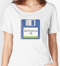 Wolfenstein 3D Retro MS-DOS/Commodore Amiga games Women's Relaxed Fit T-Shirt