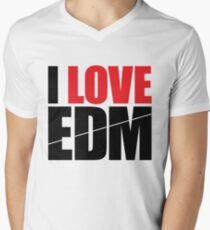 I Love EDM (Electronic Dance Music)  [black] Men's V-Neck T-Shirt