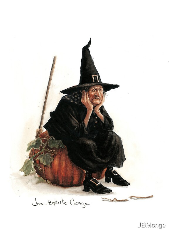 Quot The Sad Witch Quot Greeting Cards By Jbmonge Redbubble