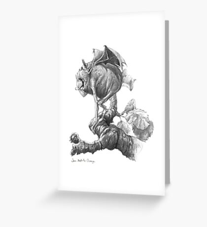 Ugly Fiend Greeting Card