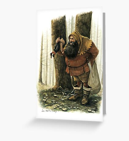 The Hungry Ogre Greeting Card