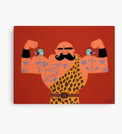Muscle man. Canvas Print