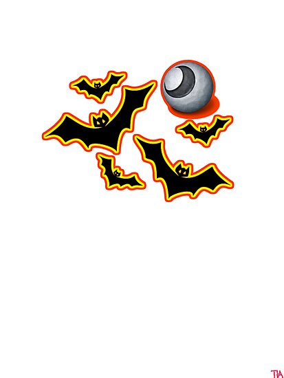 Halloween bats tee   by Tia Knight