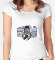 cannon, snap Women's Fitted Scoop T-Shirt