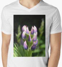 Purple Lupin Mens V-Neck T-Shirt