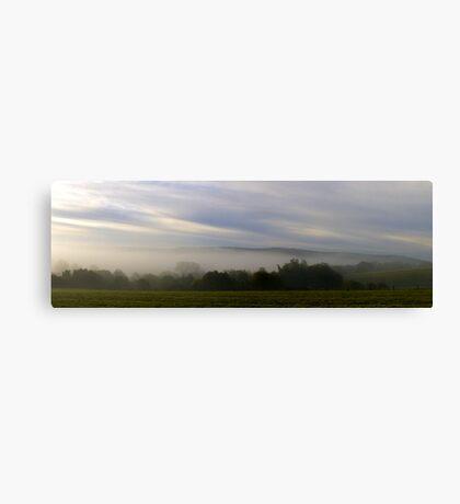 Misty Autumn Sunrise Canvas Print