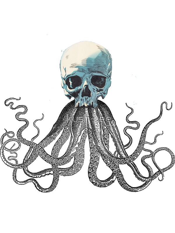 Quot Squid Skull Quot Stickers By Kush Tee Redbubble
