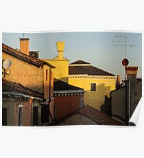 Venice, Italy - Fabulous Rooftops and Chimneys Poster