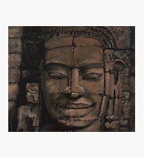 Angkor Smile - Angkor Wat Painting Photographic Print