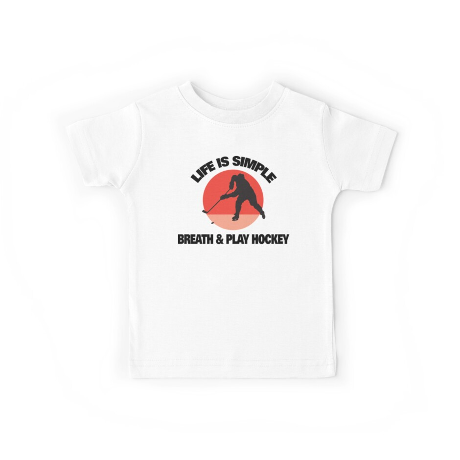 """Hockey """"Life Is Simple - Breath And Play Hockey"""" by SportsT-Shirts"""