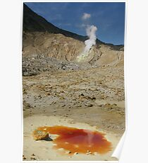 The Papandayan volcanic crater. West Java. Indonesia. Poster