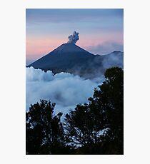 Mt Semeru at dawn. Java. Indonesia. Photographic Print
