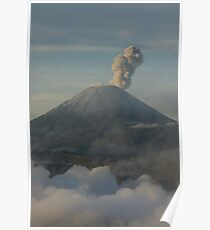 Early morning eruption. Mt Semeru, Java. Indonesia. Poster