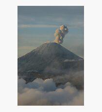 Early morning eruption. Mt Semeru, Java. Indonesia. Photographic Print