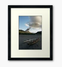 Yasur volcanic eruption. Sulfur Bay. Tanna. Framed Print