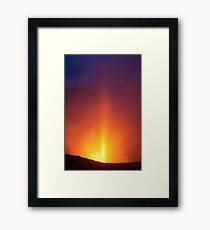 Yasur eruption. Island of Tanna. Vanuatu. Framed Print