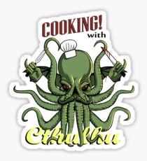 Cooking with Cthulhu Sticker