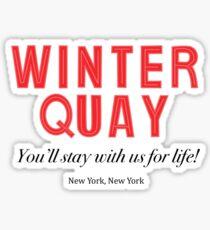 Winter Quay Hotel (on white) Sticker