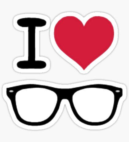 hipster love Sticker