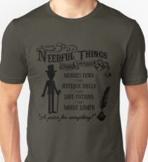 Mr. Needful Shirt (Black Print) Unisex T-Shirt