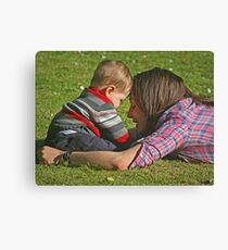 """ I Love My Mummy ...!!!"" Canvas Print"