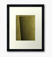 Green fuse Framed Print