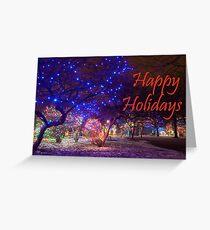 Happy Holidays Zoo Lights Greeting Card