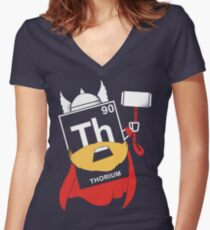 THORIUM Women's Fitted V-Neck T-Shirt
