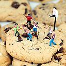 Playing basketball on cookies II by Paul Ge