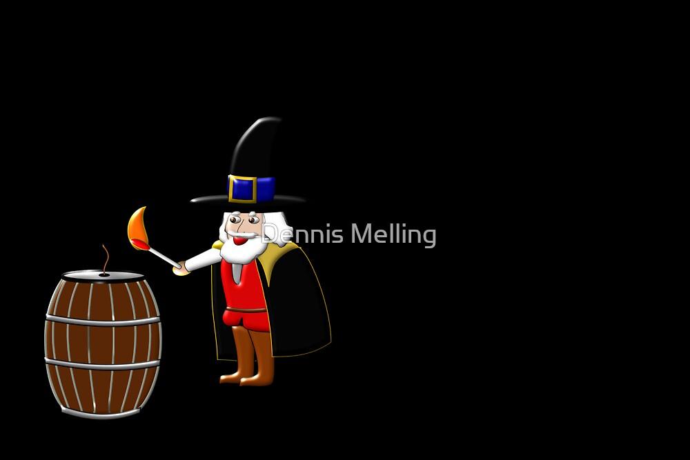 Remember, Remember 5th November on black by Dennis Melling