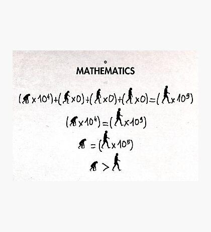 99 Steps of Progress - Mathematics Photographic Print