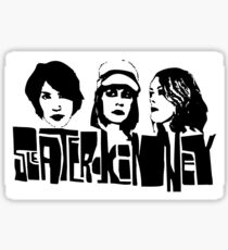 sleater kinney riot grrrl punk design Sticker