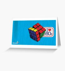 I love the 80's - Cube Greeting Card