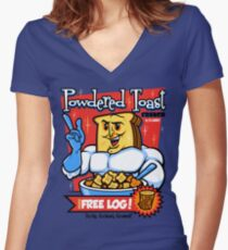 Powdered Toast Crunch Women's Fitted V-Neck T-Shirt