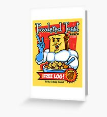 Powdered Toast Crunch Greeting Card