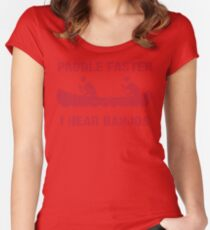 Paddle Faster I Hear Banjos - Vintage Red  Women's Fitted Scoop T-Shirt