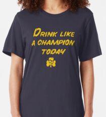 Camiseta ajustada Bebe como un campeón - Estilo South Bend