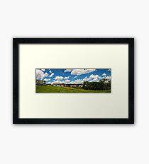 Cartoon Clouds Framed Print
