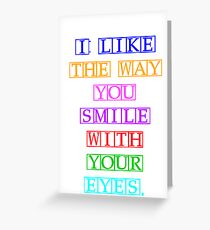 One Direction - Everything About You *POSTER* Greeting Card