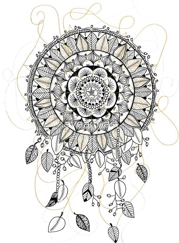 """Mandala dreamcatcher, attrape rêve"" Stickers by aveam-art ..."