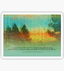 Serenity Prayer Colorful Trees Sticker