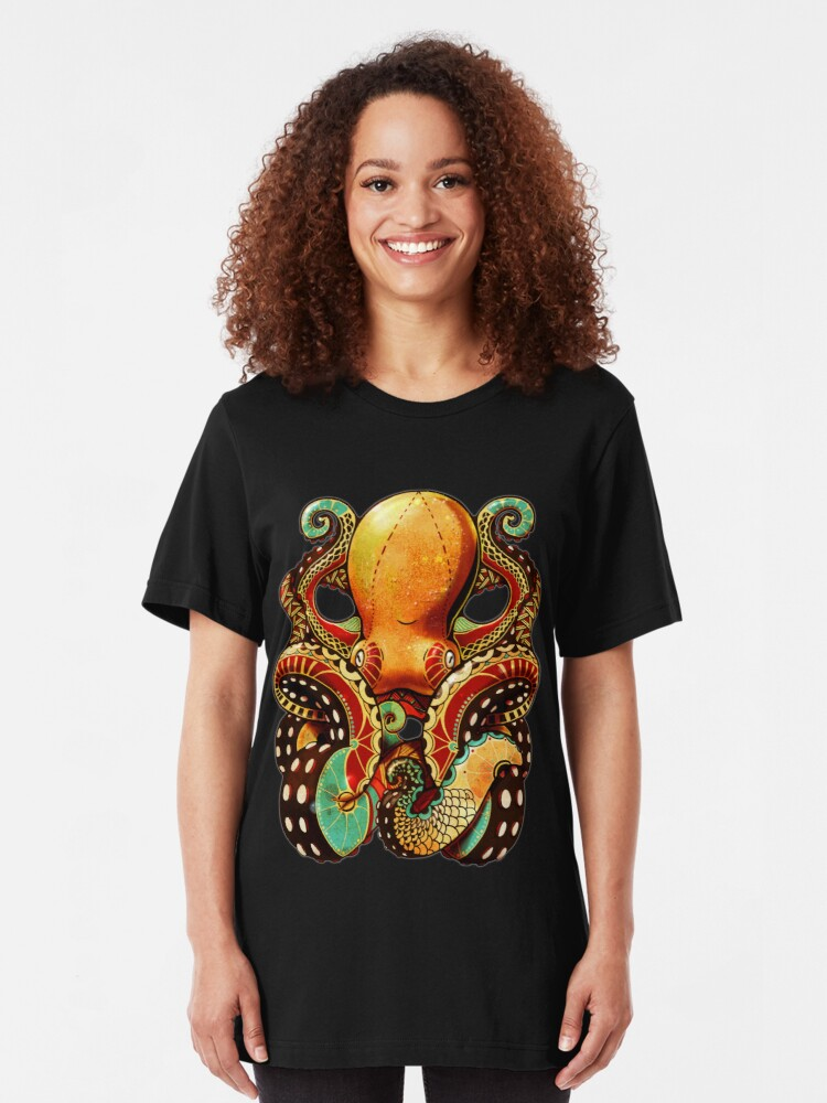 Alternate view of the octopus Slim Fit T-Shirt